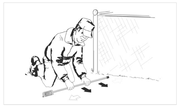 Figure 13: Searching in the vicinity of a chain link fence